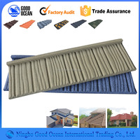 roof sheet metal/sand coated corrugated steel roof tiles/Roman types zinc aluminum roofs with stone coated steel roofing tiles