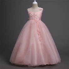 Designer children girl wedding ball gown clothing new long party evening dresses frock for teenagers