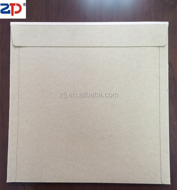 White cardboard mailers with tear-strip opening adhesive envelope