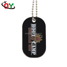 Customized Cheap Aluminum Metal Dog Tag Boot Camp School Engraved Dog Tags