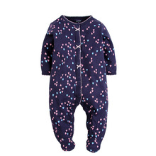 High Qulity Bear Embroidered Long Sleeve Baby Romper Soft Velour Baby Winter Clothes Romper