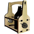 Engraved Wooden Beer Tote/Growler carrier/Beer Caddy/holder