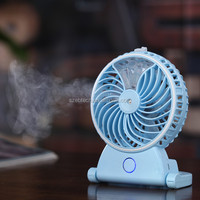hand-held usb mini misting fan, personal cooling humidifier fan, built-in rechargeable misting fan, for home office and travel