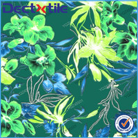 Printed fashion flower textiles poplin printed 100% cotton fabric