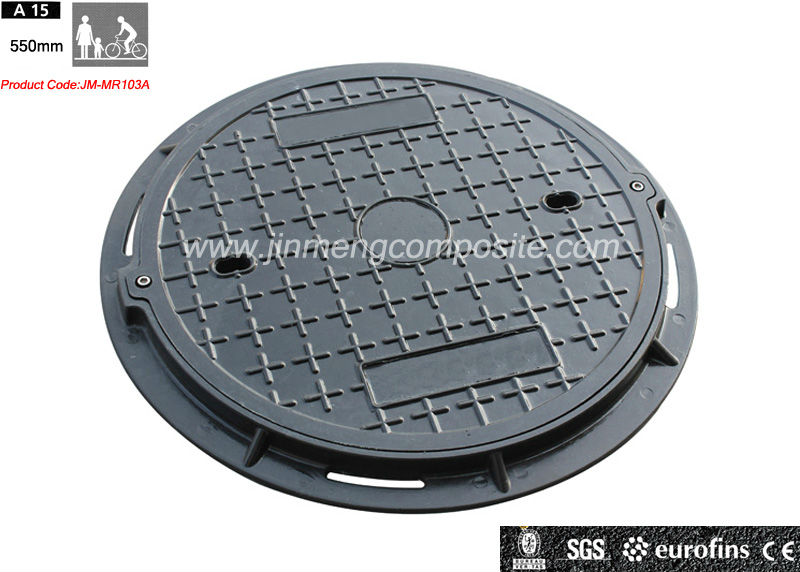 JM-MR103A resin 550mm Locking Manhole Cover and Frame