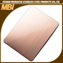 304 China Top Supplier Hairline Finish Stainless Steel Sheet for Hotel Decoration