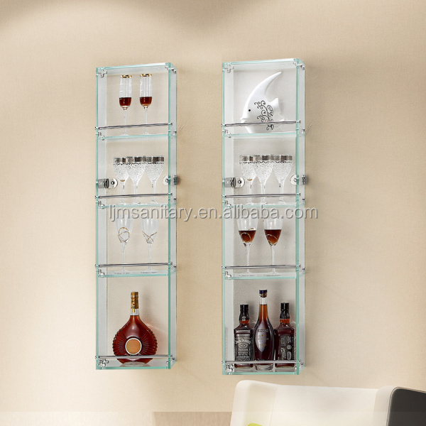 Wholesale unconventional Gorgeous clear glass shoe display case