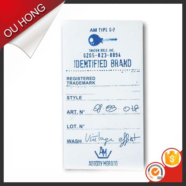 Vivid Care wash Label Design Custom PVC Hang Tag