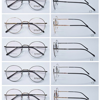 Designer Gold Round Eyewear Optical Eyeglass