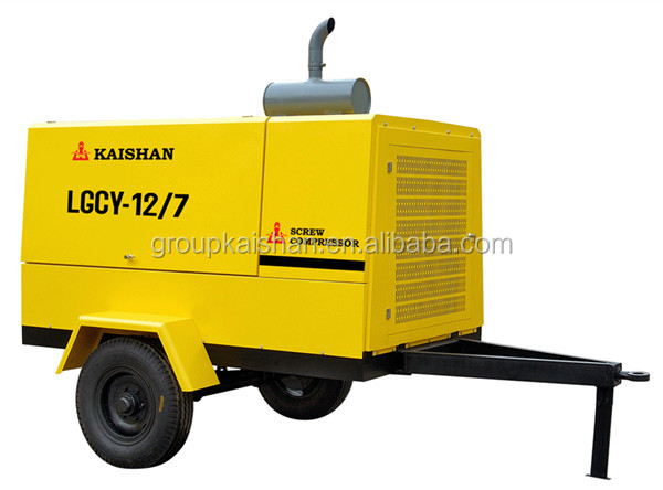 hot sale 93kw portable diesel screw air compressor with jack hammer