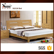 New Simple Design Melamine MDF Wooden Modern Double Bed