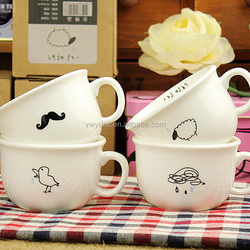2015 Hot sale New technology ceramic mug, mustache coffee mug