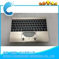 "Replacement Upper Case For Macbook Pro Retina 12"" A1534 Topcase with US Keyboard 2016 year"