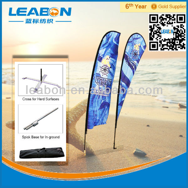Display usage aluminum flagpole installation