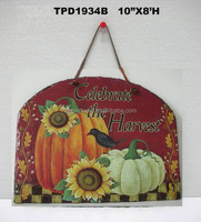 Pumpkin Wall Sign Plaque Harvest Slate Fall Thanksgiving Gift