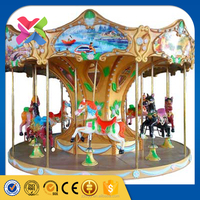 Lixin merry go round parts rides used amusement rides for sale