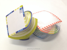 cute die cut different shaped sticky note/memo pad in memo note