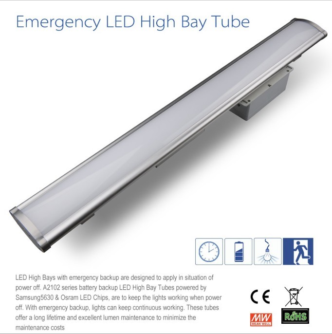 ul tuv saa standard Industrial emergency lighting lamp 80w 100w 150w led high bay light