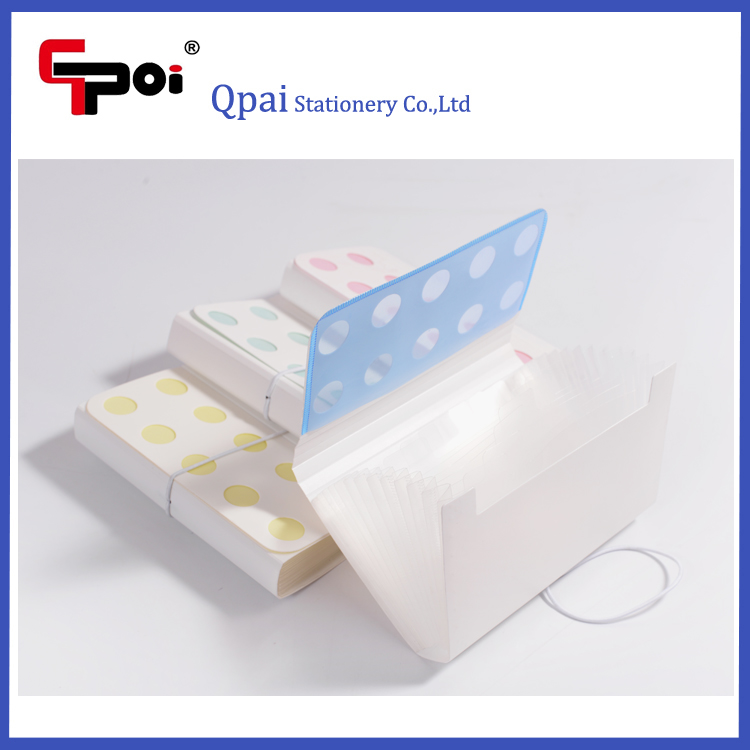 Custom Office & School Stationery PP A5 13 Pockets File Folder Expanding Folder With Elastic