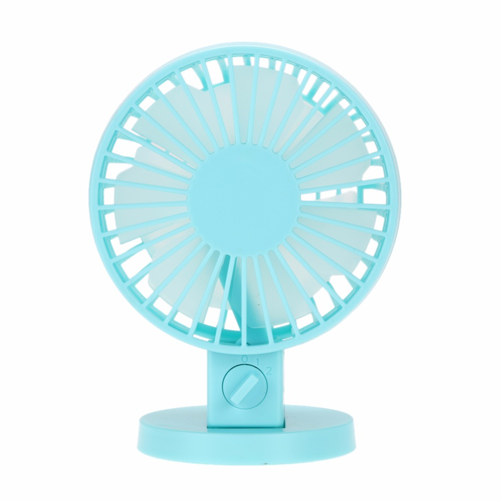 Ultra-Quiet Mini USB Desk Fan Office cooling Fan Silent Desktop Fan With Double Side Blades Creative