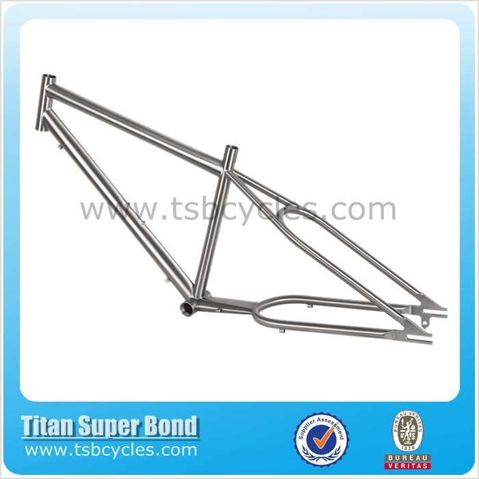 Hot sale titanium beach cruiser bike frame TSB-ZJS0901