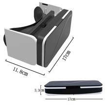 Factory Wholesale Good Quality Good Price Plastic VR 3D Glasses google cardboard HD Glasses for 3.5-6.0 inch Phone
