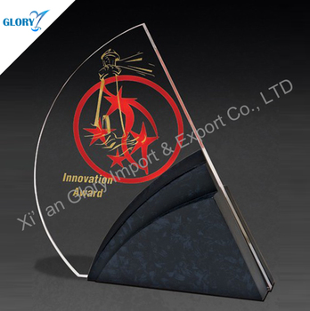 New Design Black Base Crystal Awards Plaques