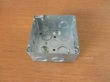 "Welded 4""Square Wall socket Electrical junction box with earth grounding"