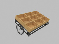 fruit and vegetable display shelf/produce cart