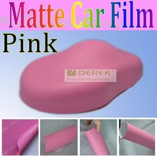 Cute Pink Car Sticker, Matte Vinyl Film with Air Free Channel, 120 gsm release paper