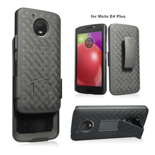 Hot sale rugged shell holster combo case for motorola moto E4 plus with built-in kickstand
