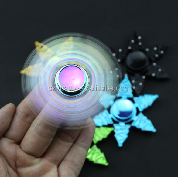 New colorful Christmas trees hand spinner metal EDC fidget spinner For Autism And ADHD top spinner toy fidget toy gift