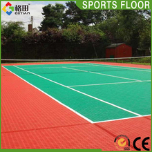 Flexible price plastic mini movable paddle tennis court interlocking sports flooring mat