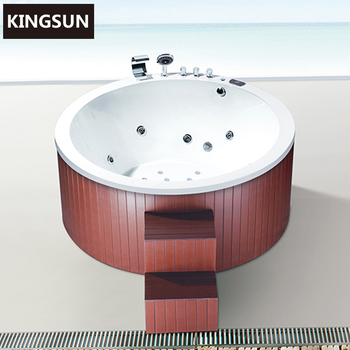 K-8975 Combo Massage Bathtub Round Outdoor Spa Hot Tub Hydrotherapy Pool
