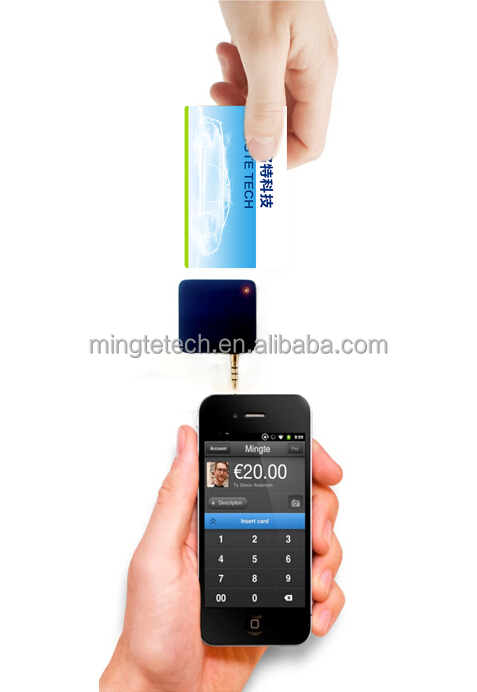 mobile credit card reader and writer with TDES/AES pin pad for payment terminal MT531