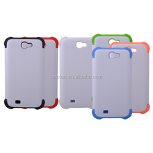 3D sublimation silicone dual-protective polymer samsung Note 2 phone case