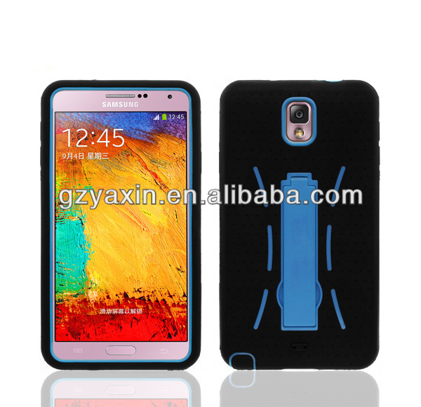Hard plastic soft silicon mobile cover for Samsung galaxy note 3 robot case