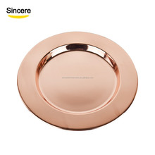 30cm stainless steel wedding <strong>plate</strong> rose gold charger <strong>plate</strong>