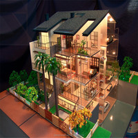 Villa Scale Model/ House Model With LED Lights
