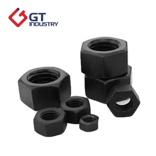 High strength black oxide m8 ASTM heavy hex screw nut dimensions