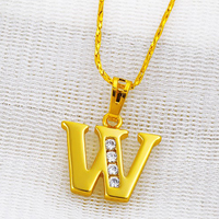 Xuping Imitation Jewellery Gold Plating Alphabet