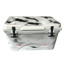 High quality 45L plastic black and white rotational molding ice box