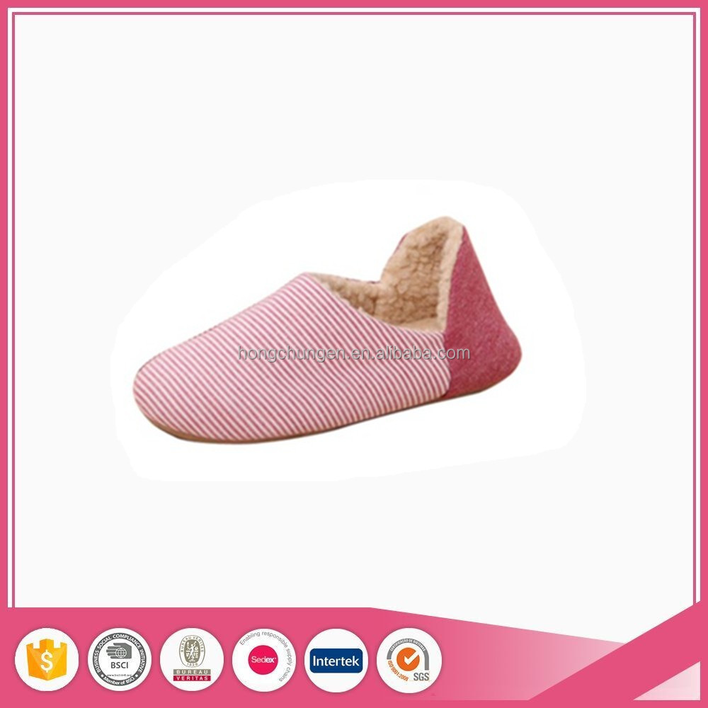 knit indoor striped confortable women slippers