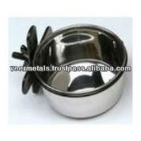 STAINLESS STEEL BIRD FEEDER/COOP CUP