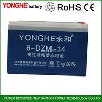 sealed 6-dzm12 48v 12ah storage batteries for electric scooter