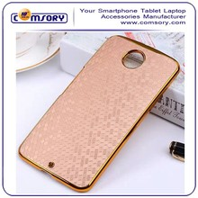 for google nexus 6 soccer patten hard case with gold electroplated bumper