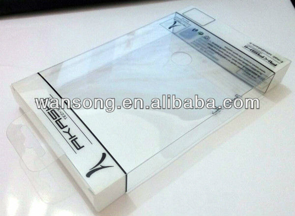 2015 popular eco-friendly transparent plastic box mobile phone cover