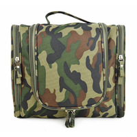 Large size camouflage washing bag ,large capacity travel toiletry bag Can insert luggage bar