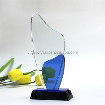 Supreme Colored Glass Crystal Award Trophy