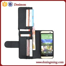 OEM Magnetic Flip Fold Wallet Card Stand Lichi Pattern PU Leather Case Cover For Various HTC m8 Phone